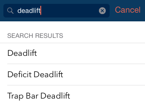 Deadlift Search