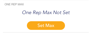 One Rep Max Not Set